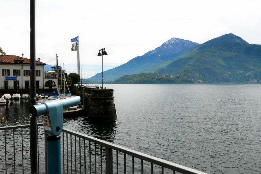 Lake Como - Dongo, Lombardy, Italy. Como Day Dongo Flag Lake Lake Como Lario Lombardia Lombardy Mountain Nature No People Outdoors Sky Tranquility Water