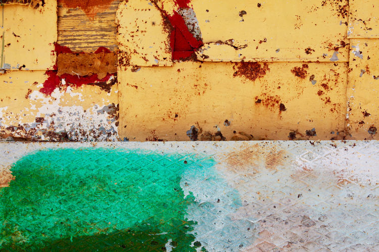 Abandoned Architecture Backgrounds Building Exterior Built Structure Close-up Damaged Day Full Frame Multi Colored No People Old Outdoors Pattern Rusty Textured  Wall Wall - Building Feature Weathered