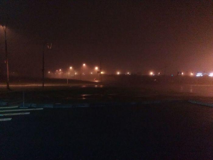 на улице туман красивый)