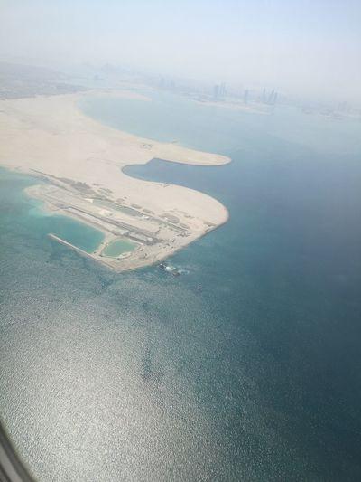 Onplane Qatarairways Waytohome Beauty In Nature Sea High Angle View Water Landscape Egypt
