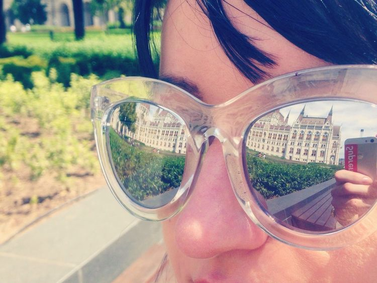 Architecture Mirror Sunglasses Outdoors