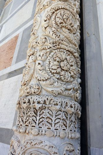 Piazza dei Miracoli Ancient Civilization Architecture Architecture Bas Relief Byzantine Influenze Carving - Craft Product Catholic Church Close-up Column Detail Day Duomo Di Pisa Marble Façade Marble Masterwork Medival Art No People Outdoors Pisa Cathedral Place Of Worship Religion Romanesque Style Toscana Toscany