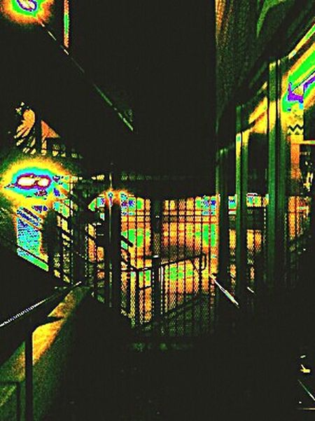 Nightphotography Parking Garage Parkingstructure Urban Geometry Psychedelic Shadows Dim Light Perspectives And Dimensions Stairway Mind Dimension