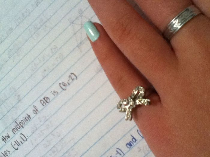 I Adore This Little Bow Ring On My Left Pinky