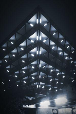White Night Festival in Bratislava First Eyeem Photo Bw Night Blackandwhite Architecture Bratislava Pyramid