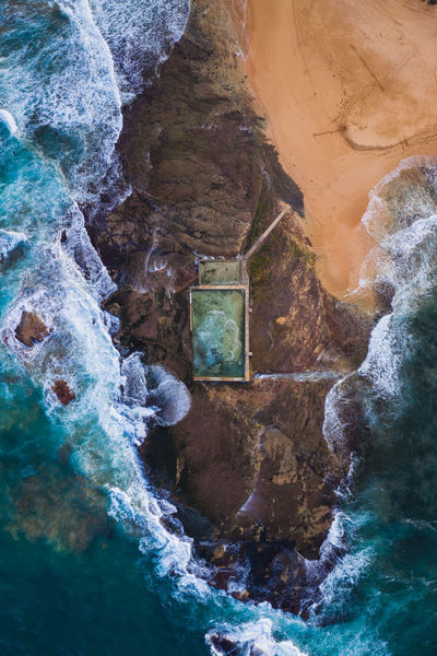Testing out the new Mavic 2 Pro at the infamous Mona Vale Ocean Pool, Sydney. Drone  Mavic2pro Aerial Aerial View Architecture Beauty In Nature Dji Drone Photography Flowing Water Mavic Nature No People Ocean Outdoors Power In Nature Rock - Object Rock Formation Scenics - Nature Sky Sydney Tourism Travel Travel Destinations Water Week On Eyeem A New Perspective On Life