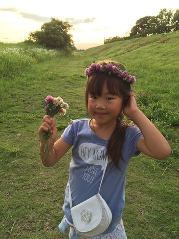 Sunset View River Riverside Green Flowers My Daughter My Love