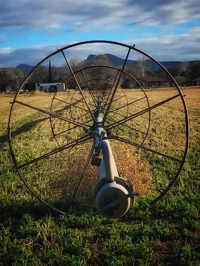 Rural America Pivot Irrigation Farming Growing Hay Circle Irrigation Waterwheel Crop Irrigation Circle Wheel