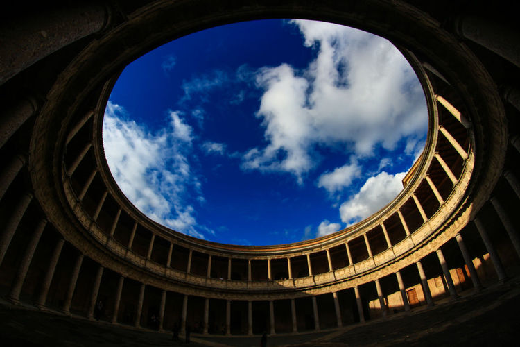 Ancient Architecture Blue Built Structure Cloud - Sky Day History Indoors  Low Angle View No People Sky Sunlight Travel Destinations