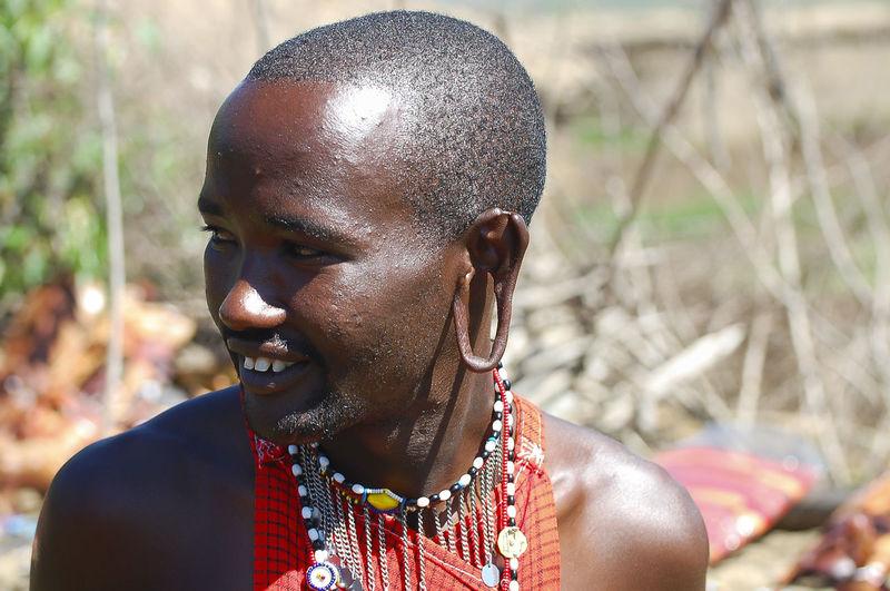 Masai Man Kenya Masai Mara Masai Mara National Reserve Africa Headshot Masai Masai Man