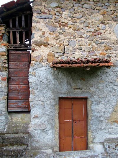 #buildings #italy #MandelloDelLario Architecture Building Exterior Outbuilding Stone Weathered