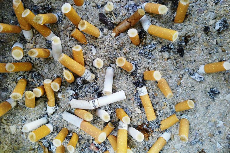 Close-up of cigarette smoking