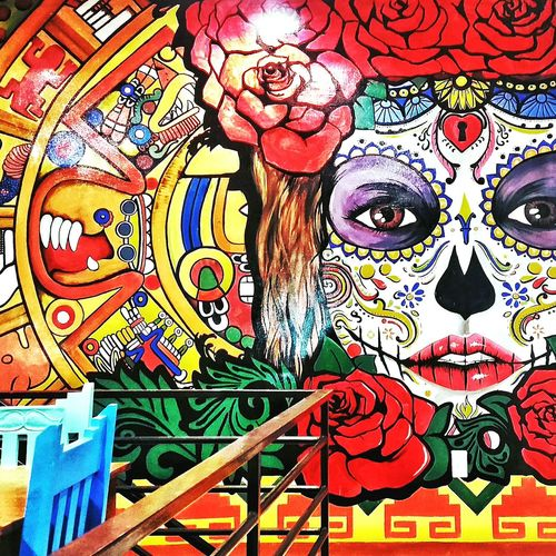 Polychromatic Mural Mural Art Mexican Restaurant Mexican Style Mexican Skull Mexican Culture Colorful Color Explosion Colorsplash Colorful View Hola! Check This Out Eyeem Philippines Relaxing Enjoying Life