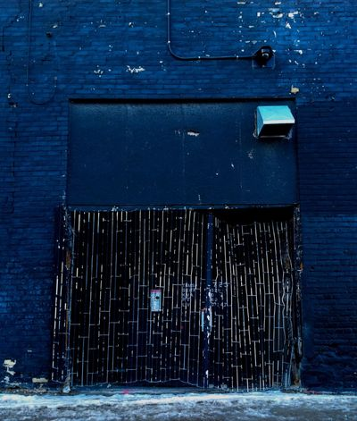 No colours anymore Old Building  Old Gate Brick Building Painted Black Peeling Paint Winter Alley Dented Gate Damaged Architecture Black Bricks Architecture