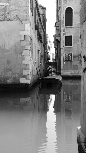Water Building Exterior Reflection Canal Waterfront City Old Town No People Blackandwhite Streamzoo MonochromePhotography Black And White Photography Monochrome Blackandwhite Photography Monochrome _ Collection Streamzoofamily Old Italy❤️ Venezia Venezia Italy