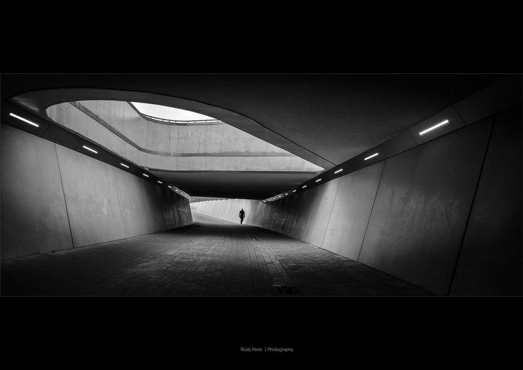 City Cityscape Shadows & Lights Perspective Blackandwhite Photography Fujifilm Fuji Fujifilm_xseries One Person Outdoors Architecture FUJIFILM X-T2 Black & White