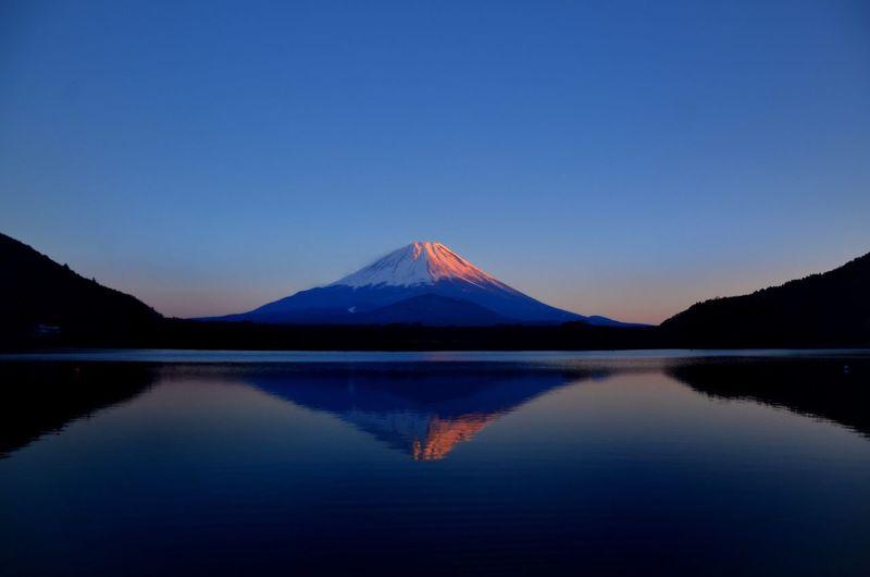 Japan Lake Shoji Mount FuJi Dusk