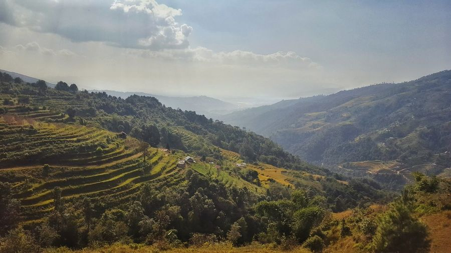 Green Nature Clouds And Sky Landscape Agriculture S6edgephotography Beautiful Nepal