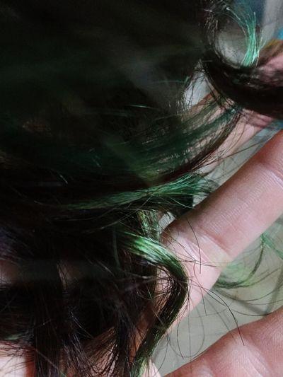 Hair Close-up Green