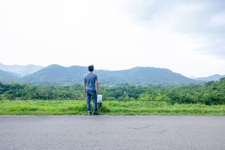 A man stood