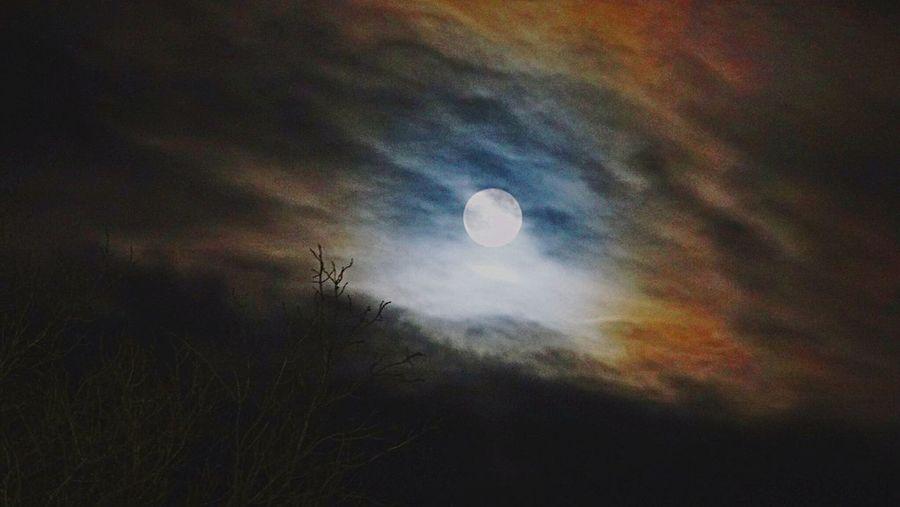 Super moon. Nature Sky Moon Astronomy Outdoors Cloud - Sky Night First Eyeem Photo