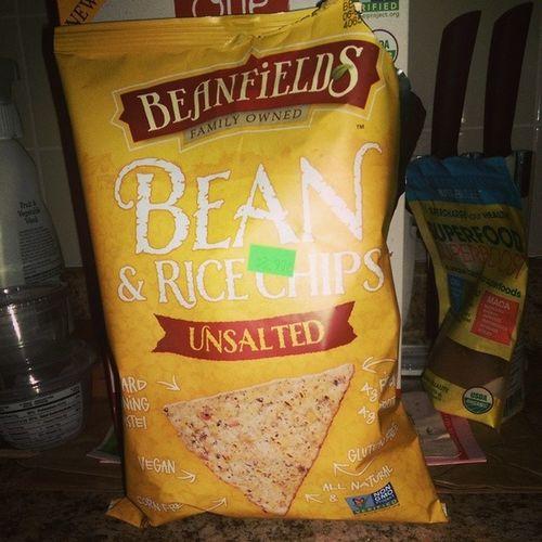 Beanfieldssnacks Unsalted Beanandricechips @nongmoproject verified Cornfree glutenfree vegan