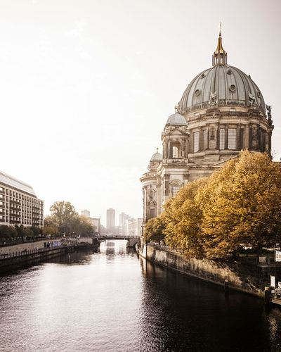 Berliner Dom Architecture Dome Built Structure Building Exterior Water River Travel Destinations City Tree Outdoors No People Day Sky Clear Sky Berliner Ansichten Berliner Dom