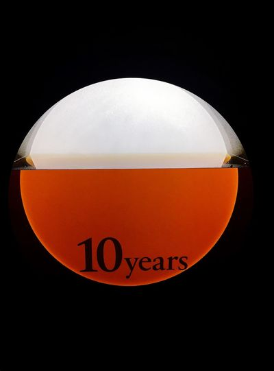 Orange Color Communication Illuminated Drink Sake Display HIBIKI 響 酒 10years 10年 Japan