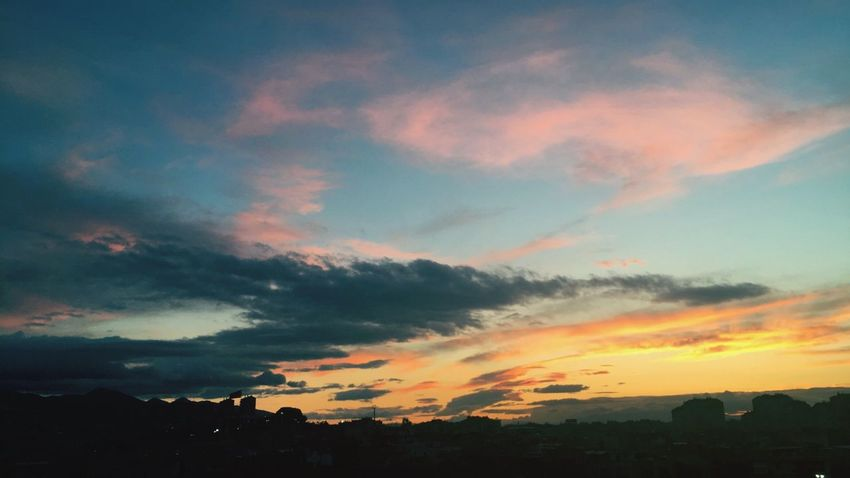 EyeEm Best Shots Sunset Sky Beauty In Nature Cloud - Sky Tranquility Nature Orange Color Dark Cloud Outdoors Tranquil Scene Atmosphere Multi Colored Majestic