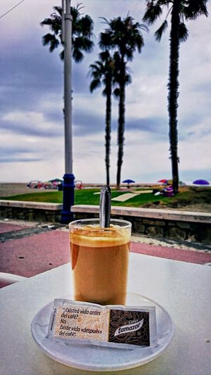 Coffe Coffee Coffee Time Water Tree Drink Space Drinking Glass Sky Close-up Beach Palm Tree