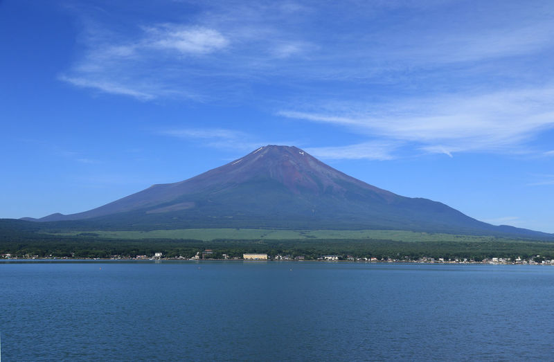 Fuji Mountain japan yamanakako Beauty In Nature Cloud - Sky Day Environment Idyllic Lake Landscape Mountain Mountain Peak Nature No People Non-urban Scene Outdoors Scenics - Nature Sky Snowcapped Mountain Tranquil Scene Tranquility Volcanic Crater Volcano Water Waterfront