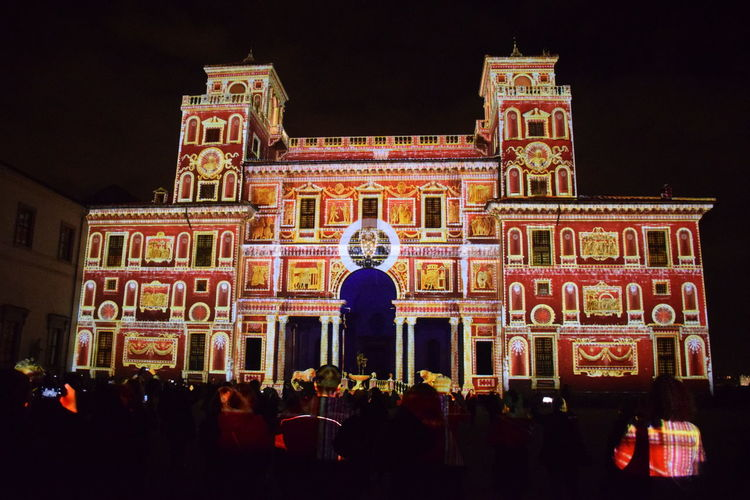 Rome Italy🇮🇹 Architecture Built Structure Illuminated Lights Effects Night Outdoors Villa Medici