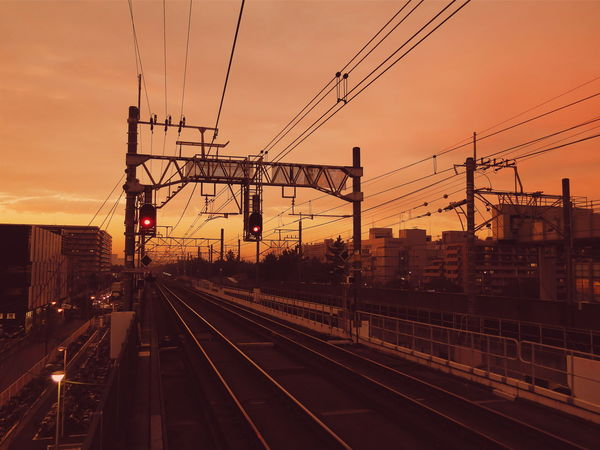 Commuting Station Train Station Snapshots Of Life City Urban EyeEm Best Shots Urbanphotography Silhouette Sunset Sunset_collection Sunset Silhouettes Vscocam VSCO Canon Powershot Showcase: January Transportation Public Transportation Canong16 Railway Railroad
