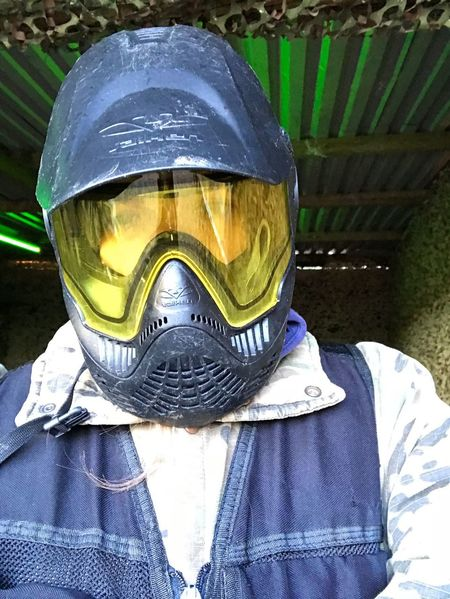 Ready to paintball! Activity Paintballtime Paintballing Paintball Protection Paintball Photography Paintball Girl Outdoors Adult Day One Person People Close-up Headwear Press For Progress