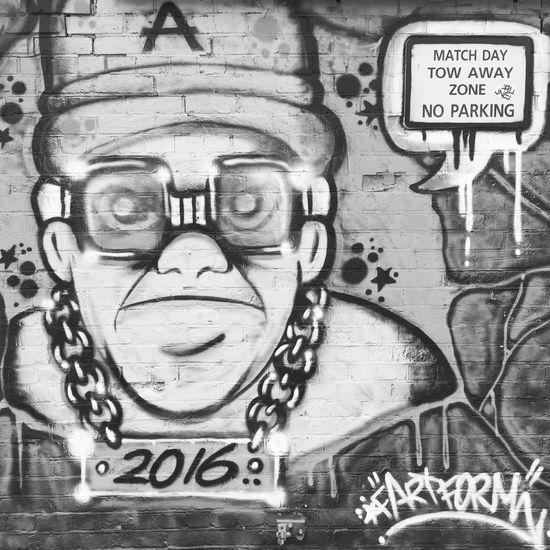 Streetart at Fratton Park. B&w Streetphotography Street Photography Fratton Park Portsmouth Portsmouth Football Club Urban Graffiti Wall Graffiti Graffiti Art Spraypaint Sprayart Spray Paint Spray Painted Matchday Towawayzone No Parking 2016 Pompey Wall