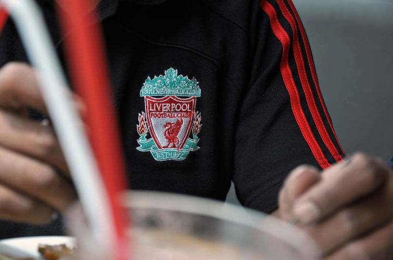 Eating Foreground Blur Liverpool Merseyside One Person Polo Shirt  The Reds YNWA