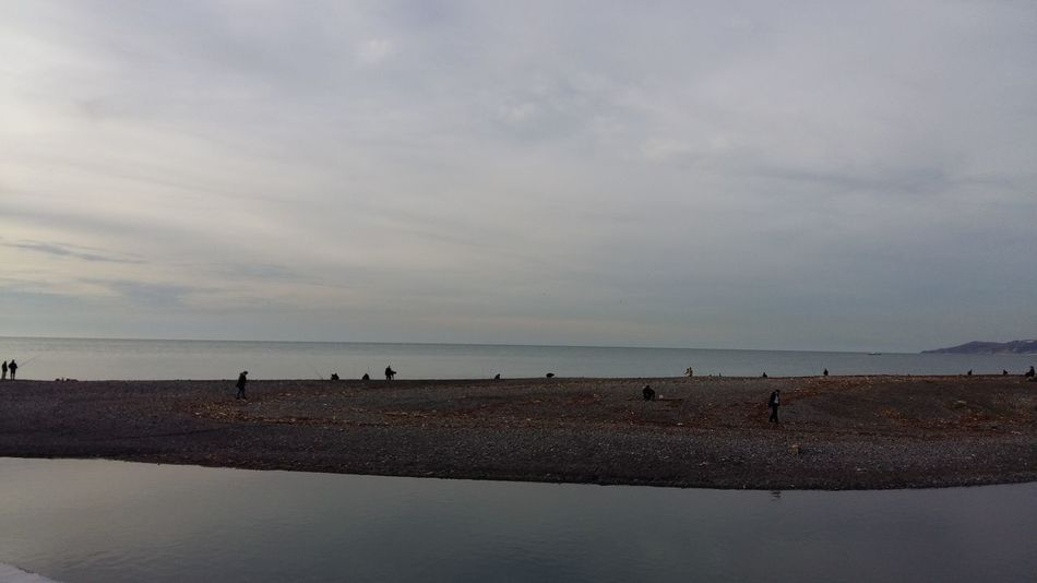 Сочи. Полоска суши. Black Sea Sea Sea And Sky Sochi Сочи Море Beach пляж пустынно тишина Край света Sea Beach Horizon Over Water Water Sky Outdoors Sunset Nature