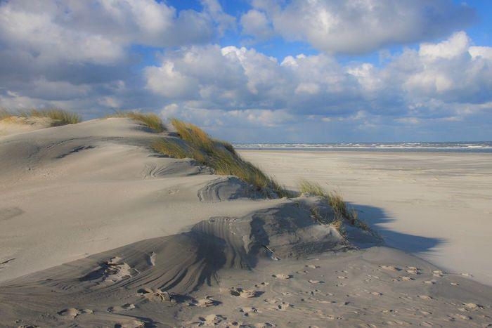 Baltrum North Sea Beach Sand Sea Land Sky Cloud - Sky Water Scenics - Nature Nature Horizon Over Water