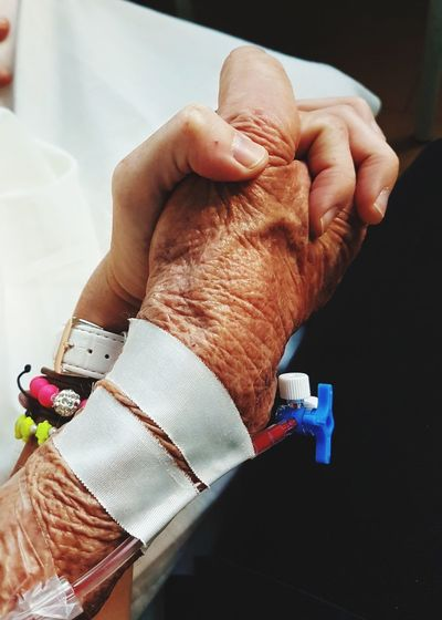 Human Body Part Healthcare And Medicine Human Hand People Close-up Hospital Love Family❤ Fighting Grandma Strongwoman Strongagain