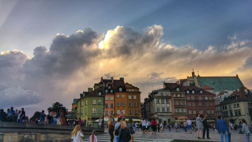 Travel Destinations History Old Town Poland Warsaw Vacations Destination Architecture Cloud - Sky People Large Group Of People Built Structure