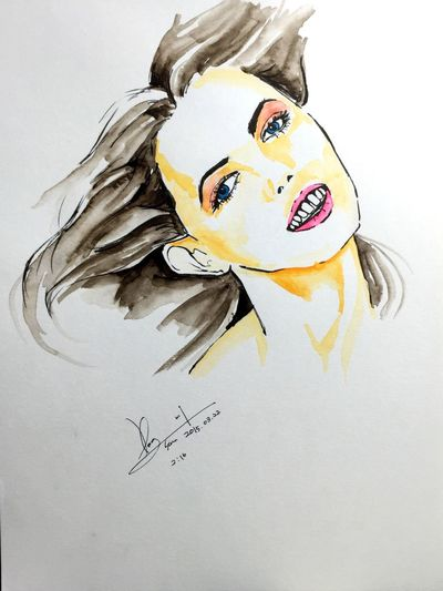 Girl Painting Face Art Draw Hobby Drawing Woman Sketch People