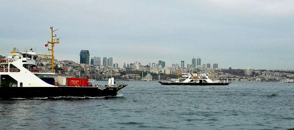 Boğaziçi Bosphorus, Istanbul Transportation Water Sailing Urban Skyline Outdoors Cityscape Mode Of Transport Sea Ferry Boat