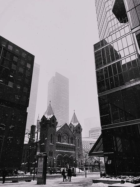 Snowing in Toronto ❄️ Winter Photography Winter Wonderland Wintertime Weather View Postcard View Postcard Picture Black And White Photography Blackandwhite Toronto Buildings Torontophotos Toronto Up In The Air Skyscrapers Architecture Built Structure Building Exterior Skyscraper Modern City Real People Travel Destinations Sky Outdoors People Day EyeEmNewHere EyeEmNewHere