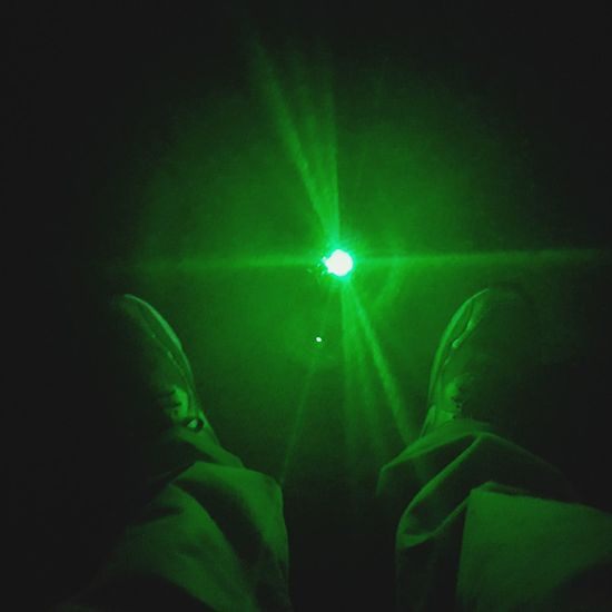 Green Color People Adult Illuminated Human Body Part One Person Light Beam Real People Night Looking Down Close-up Outdoors Green Lazer Green Color My Feet