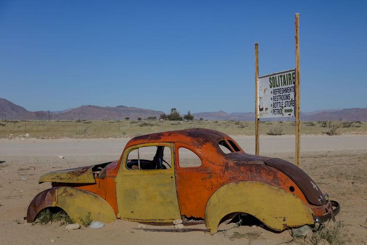Old car at
