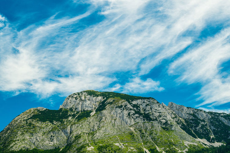 Mountain and clouds Alps Austrian Alps Tree Mountain Blue Forest Pinaceae Pine Tree Sky Cloud - Sky Landscape