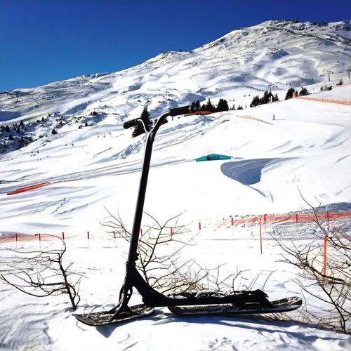New art --> SnowScooter Winter Mountain Snow Ski Lift Snowscooter