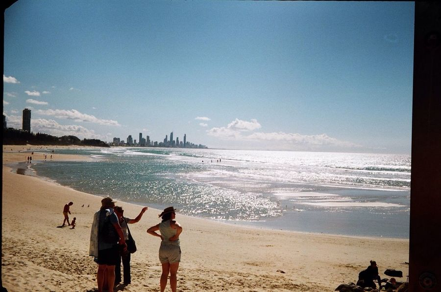 Australia Tourist Summer Gold Coast Beach Analogue Photography Paxette Ocean City