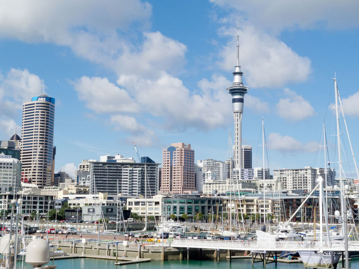 AUCKLAND, NZ, APR 16, 2012: Skyline of Auckland Central Business District with Sky Tower seen from Viaduct Harbor, on Apr 16, 2012 in Auckland, New Zealand Auckland Auckland, New Zealand City Sky Tower New Zealand Iconic Building Building Exterior Architecture Landmark Structure CBD Skyline Viaduct Harbour Modern Built Structure Tower Tall - High Cloud - Sky Office Building Exterior Skyscraper Cityscape Travel No People Spire  Travel Destinations Outdoors Financial District
