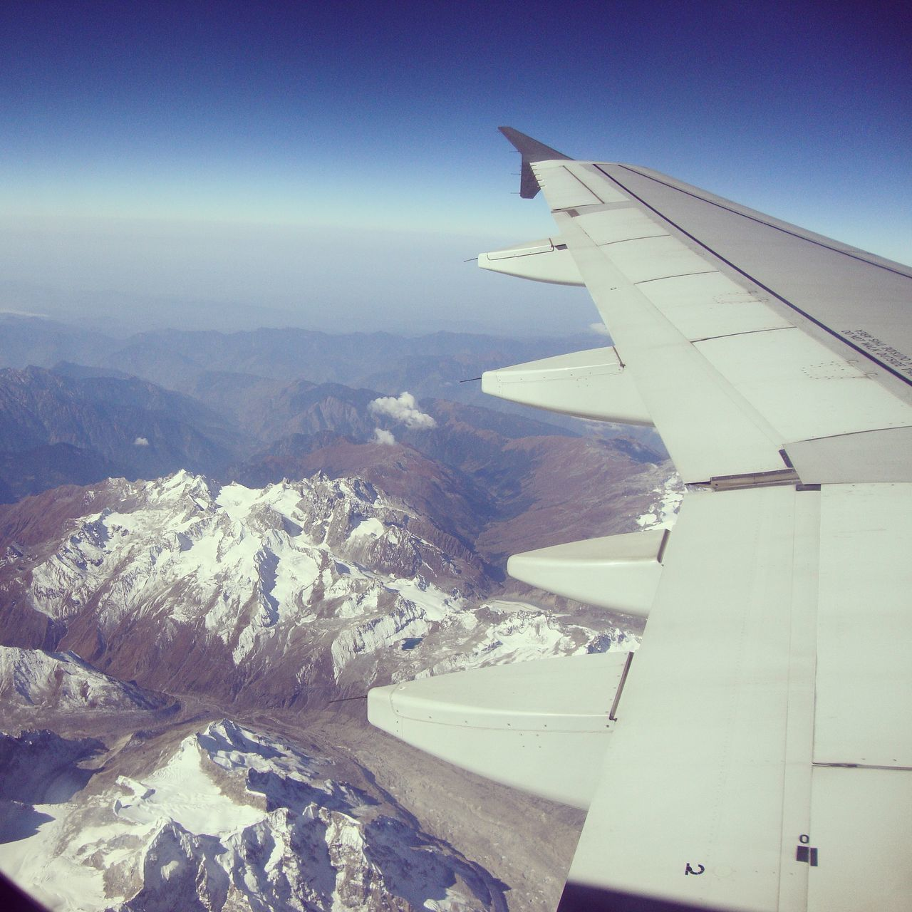 aerial view, nature, airplane, landscape, journey, airplane wing, beauty in nature, travel, no people, transportation, scenics, aircraft wing, outdoors, mountain, sky, day